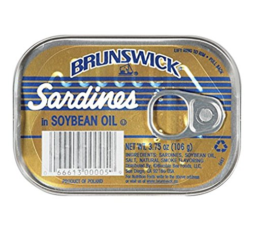 Brunswick Sardines in Soybean Oil, 3.75 Oz (Pack of 6) - Buy Fast delivery