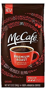 McDonalds McCafe Premium Roast Ground Coffee Bag 12.oz (Pack of 2) - Buy Fast delivery