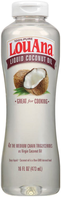 LouAna Liquid Coconut Oil, 16 oz, Great For Cooking - Buy Fast delivery