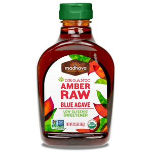Madhava Organic Agave Nectar, Amber, 23.5 oz - Buy Fast delivery