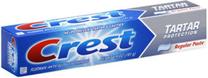Crest Fluoride Toothpaste, Tartar Protection, Regular 6.40 oz - Buy Fast delivery