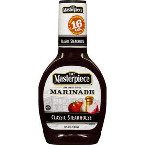 KC Masterpiece Classic Steakhouse Marinade (Pack of 2) 16 oz Bottles - Buy Fast delivery