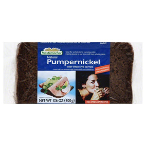 MESTEMACHER BREAD RTE PUMPERNICKEL, 17.6 OZ (Pack of 6) - Buy Fast delivery