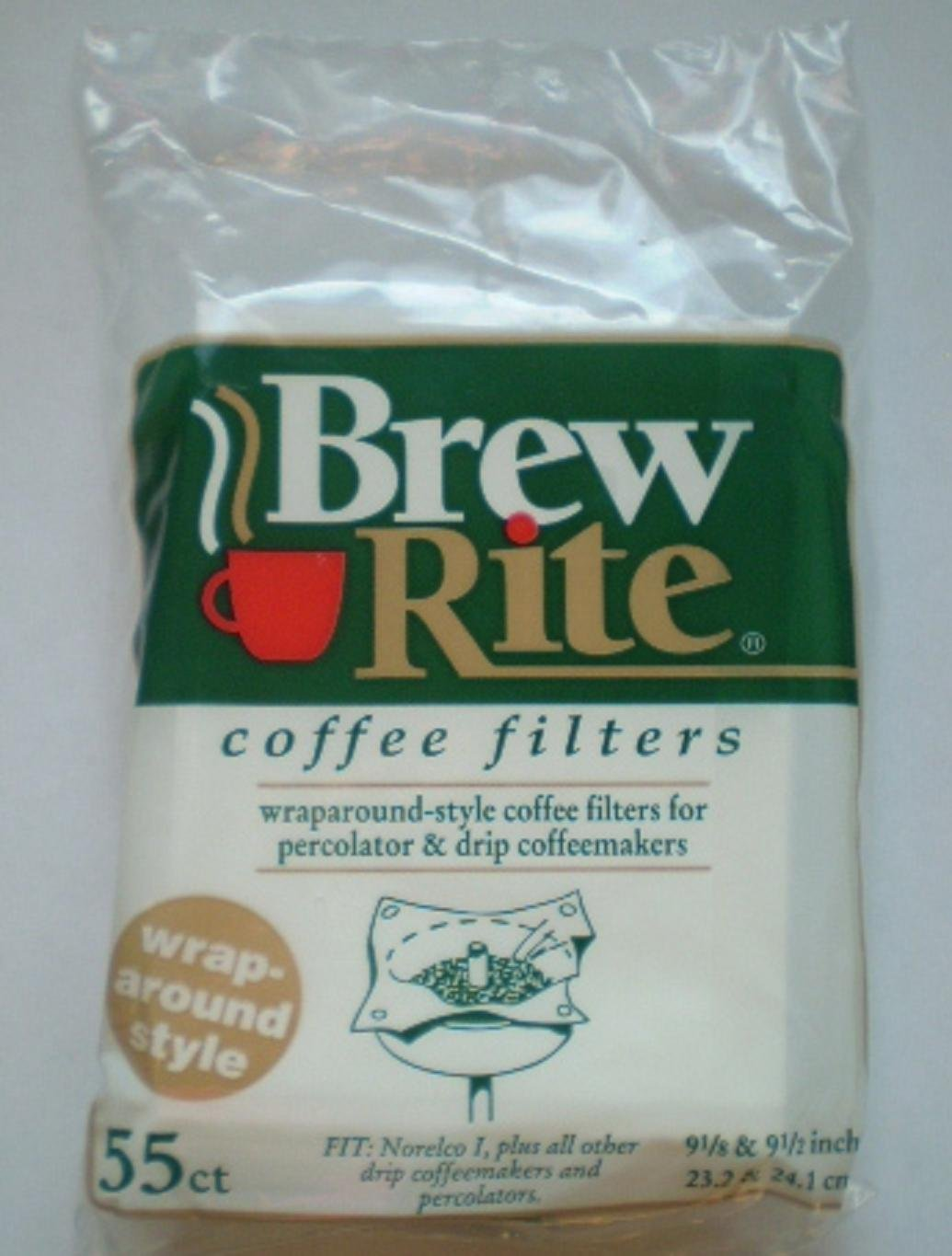 Brew Rite Wrap Around Percolator Coffee Filters 55 Count - Buy Fast delivery
