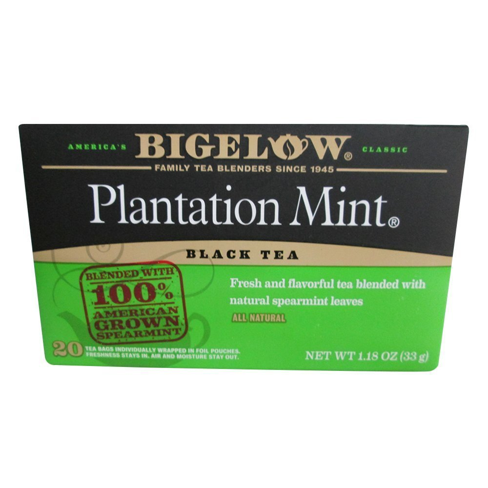 Bigelow Tea Plantation Mint Black Tea -- 20 Tea Bags - Buy Fast delivery