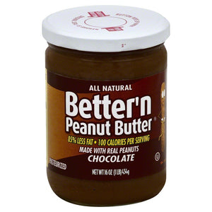 Better N Peanut Butter, Chocolate Peanut Butter, 16 Ounce (Pack of 6) - Buy Fast delivery