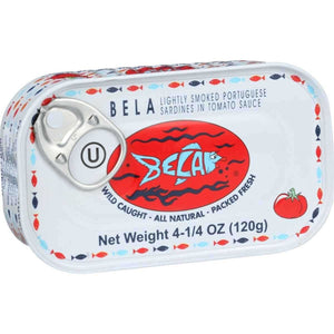 Bela Olhao Sardines Lightly Smoked Sardine in Tomato Sauce, 4.25 Ounce -- 12 per case. - Buy Fast delivery