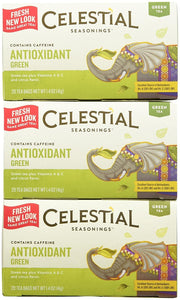 Celestial Seasonings Antioxidant Supplement Green Tea Bags, 20 ct, 3 pk - Buy Fast delivery