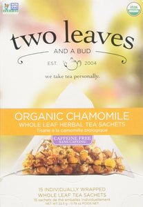 Two Leaves and a Bud Organic Chamomile Herbal Tea - Buy Fast delivery