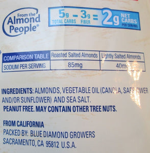 Blue Diamond, Lightly Salted Low Sodium Almonds, 16oz Bag (Pack of 3) - Buy Fast delivery
