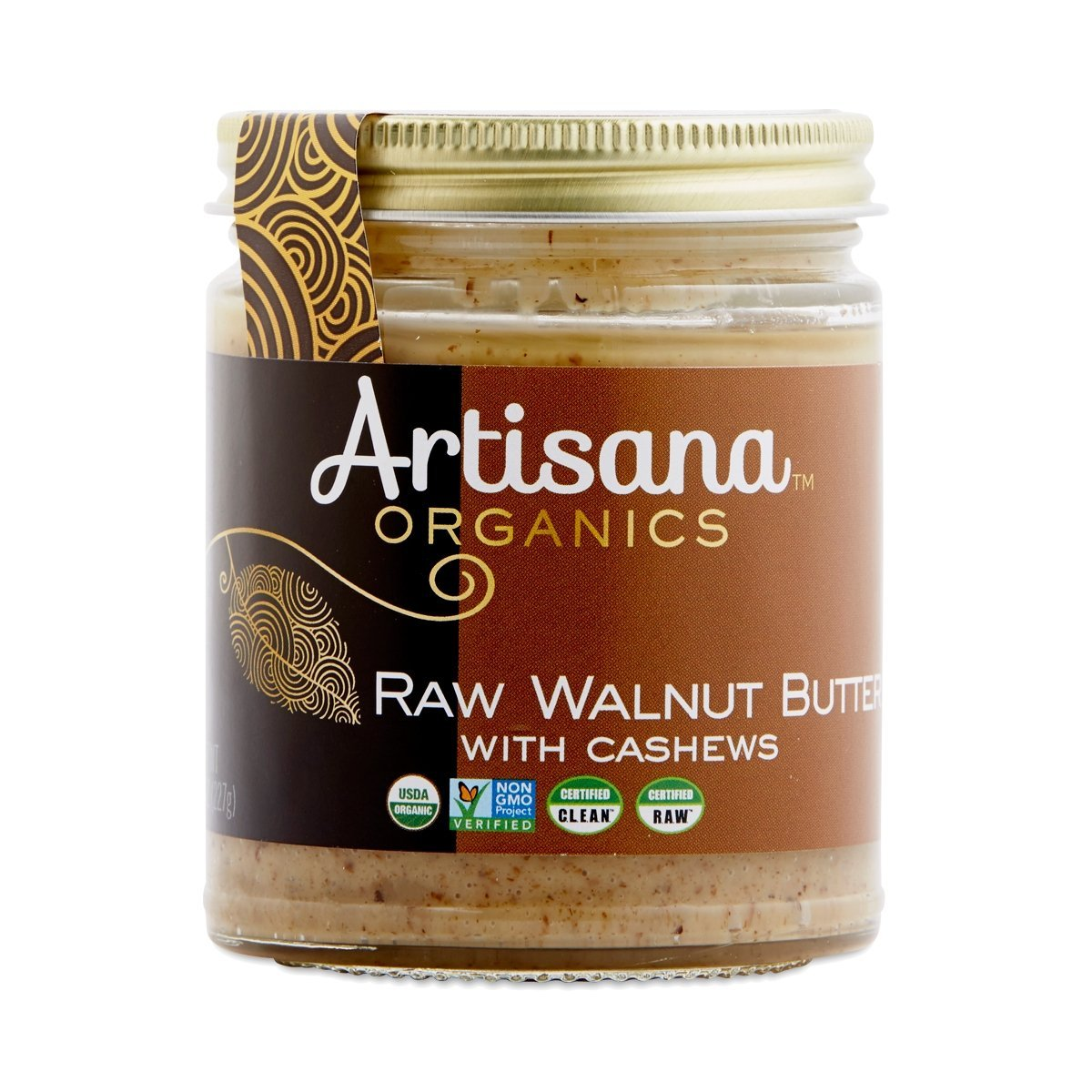 Artisana 100% Organic Raw Walnut Butter with Cashews -- 8 oz 2 Pack - Buy Fast delivery