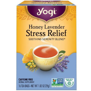 Yogi Tea Herbal Stress Relief, Honey Lavender 16 ea ( pack of 4) - Buy Fast delivery
