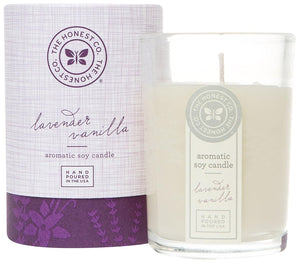 Honest Aromatic Soy Candle, Lavender Vanilla, 8 Ounce - Buy Fast delivery