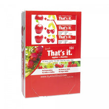 Apple + Cherries That's It. Fruit Bars | 100% Natural Great Tasting Healthy Real Fruit Bar | Vegan, Gluten Free, Paleo, Kosher, Non GMO, 100 Calories, No Preservatives, No Added Sugar | Pack of 12 - Buy Fast delivery