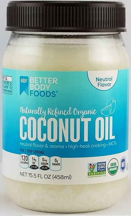 BetterBody Foods Organic Naturally Refined Coconut Oil, 15.5 Ounce - Buy Fast delivery