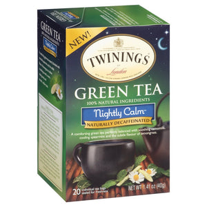 Twinings Nightly Calm Bagged Green Tea, 40 Count - Buy Fast delivery