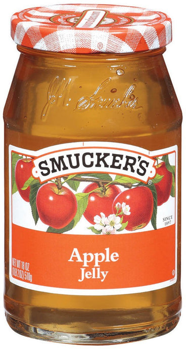 Smucker's, Apple Jelly, 18oz Glass Jar (Pack of 2) - Buy Fast delivery