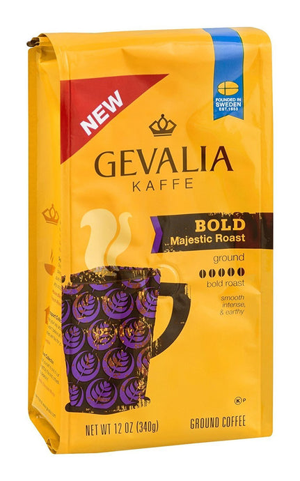 Gevalia Kaffe Ground Coffee Bold Majestic Roast, 12 OZ (Pack of 6) - Buy Fast delivery