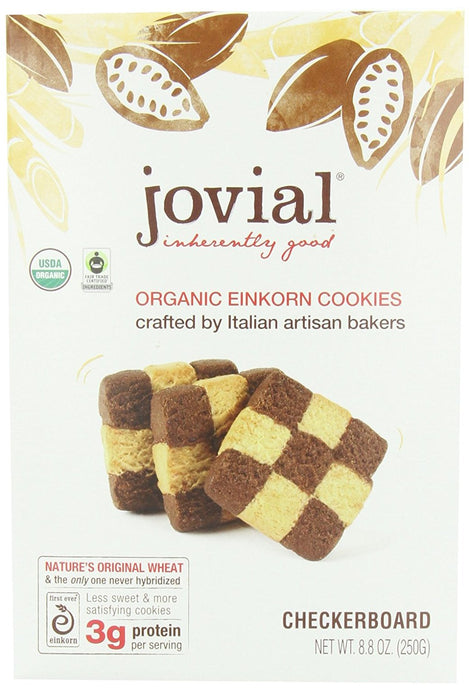 Jovial Checkerboard Einkorn Organic Cookies, 8.8-Ounce (Pack of 6) - Buy Fast delivery