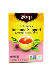 Yogi Tea Echinacea Immune Support, Herbal Supplement, Tea Bags, 16 ct, 3 pk - Buy Fast delivery