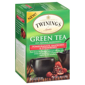 Twinings Green, Pomegranate, Raspberry, and Strawberry Bagged Tea, 40 Count - Buy Fast delivery