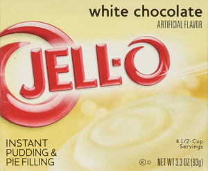 Jell-o Instant Pudding & Pie Filling, White Chocolate, 3.3-ounce Boxes (Pack of 4) - Buy Fast delivery