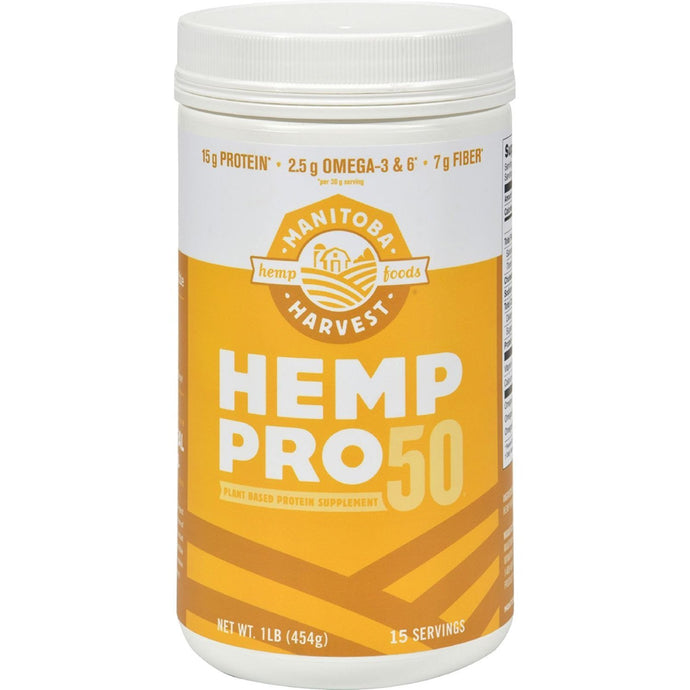 Manitoba Harvest HEMP PRO 50, Whole Food 50% Protein Powder, 16 Ounce Tubs (Pack of 2) - Buy Fast delivery