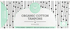 Honest Organic Cotton Tampons with No Applicator, Regular, 20 Count - Buy Fast delivery