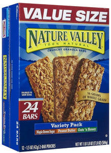 Nature Valley Crunchy Granola Bars Variety Pack (Pack of 6) - Buy Fast delivery