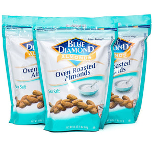 Blue Diamond, Almonds, Oven Roasted, Sea Salt, 16oz Bag (Pack of 3) - Buy Fast delivery