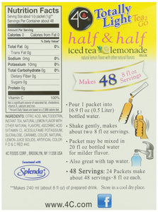 4C Half & Half Iced Tea Lemonade Mix- Sugar Free 24 pkts - Buy Fast delivery