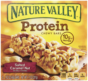 Nature Valley, Protein, Salted Caramel Nut Chewy Bar, 7.1oz Box (Pack of 4) - Buy Fast delivery