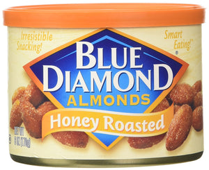 Blue Diamond Almonds, Can, Honey Roasted, 6 oz - Buy Fast delivery