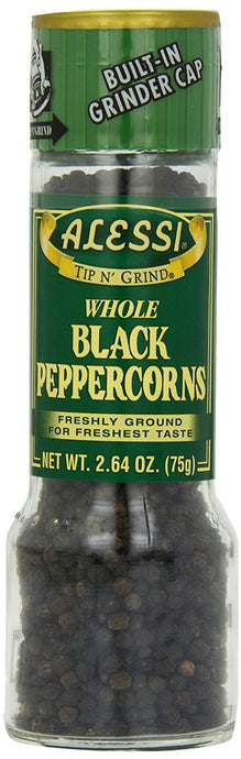 Alessi Black Peppercorn Grinder, 2.64-Ounce (Pack of 6) - Buy Fast delivery