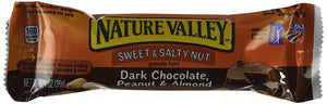 Nature Valley Sweet & Salty Nut Granola Bars Dark Chocolate, Peanut & Almond Flavor, 1 Box = 6 Bars, (2 Pack) - Buy Fast delivery