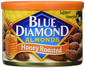 Blue Diamond Almonds, Honey Roasted, 6 Ounce (Pack of 6) - Buy Fast delivery
