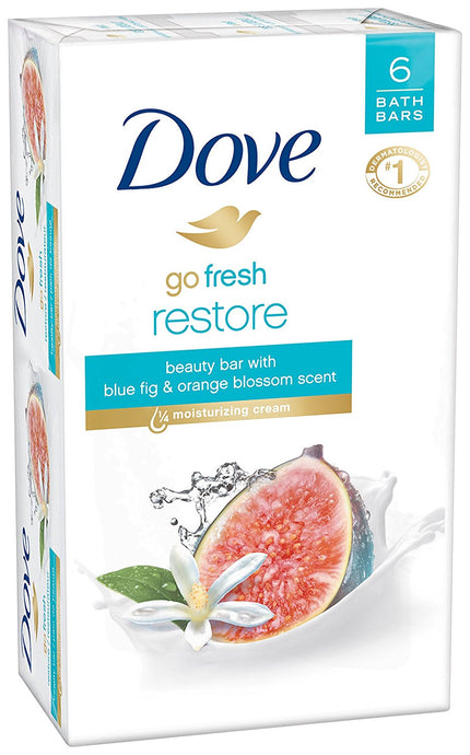 Dove go fresh Beauty Bar, Restore 4 oz, 6 Bar - Buy Fast delivery