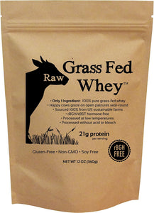 Raw Grass Fed Whey - Happy Healthy Cows, COLD PROCESSED Undenatured 100% Grass Fed Whey Protein Powder, GMO-Free - Buy Fast delivery