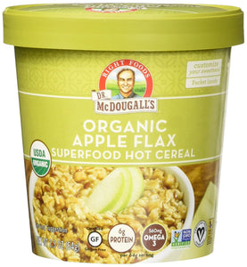 Dr. McDougall's Right Foods Apple Flax Oatmeal (Pack of 6) - Buy Fast delivery