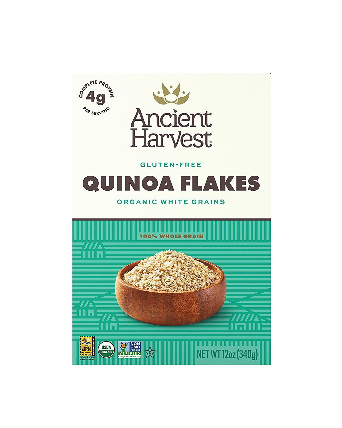 Ancient Harvest Organic Quinoa Flakes Cereal, 12 Ounce (Pack of 6) - Buy Fast delivery