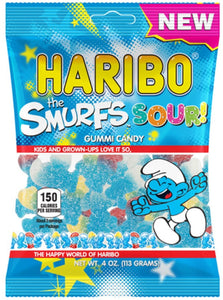New Haribo The Smurfs Sour! Gummi Candy 4 oz Bag - Buy Fast delivery