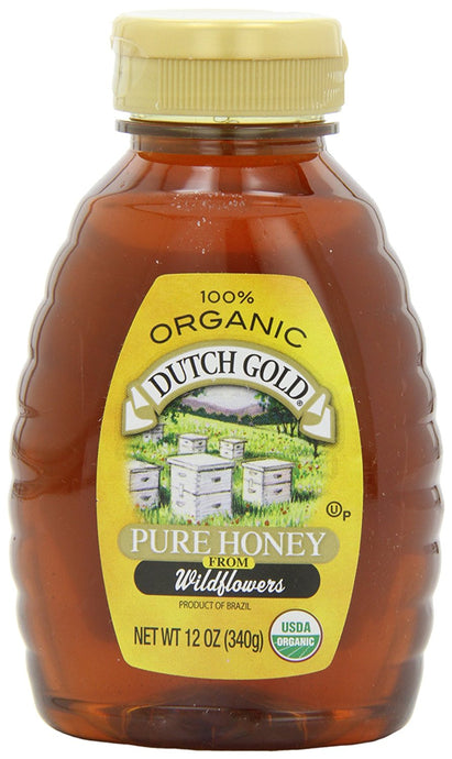 Dutch Gold Honey Organic Squeeze, 12-Ounce (Pack of 3) - Buy Fast delivery