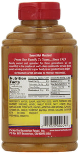Beaver Brand Sweet Hot Mustard, Squeezable Bottle - Buy Fast delivery