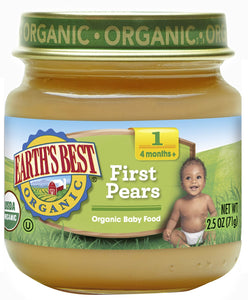 Earth's Best, First Pears, 2.5 oz - Buy Fast delivery