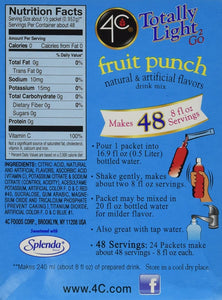 4C Totally Light 2 Go Fruit Punch, Sugar-Free, (72 Packets) [RETAIL PACKAGING] - Buy Fast delivery