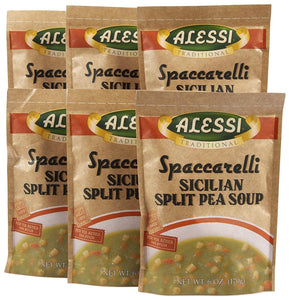 Alessi Split Pea Soup- 6 oz, 6 pk - Buy Fast delivery