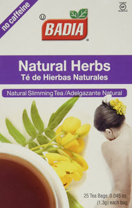 Badia Natural Herbs Tea Bags 25-Count (Pack of 2) - Buy Fast delivery