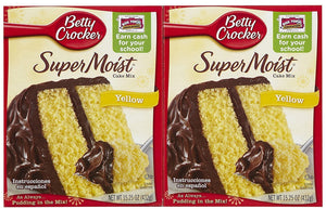 Betty Crocker Super Moist Yellow Cake Mix, 15.25 oz, 2 pk - Buy Fast delivery