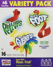 Betty Crocker Variety Pack, Gushers, Fruit Roll-Ups, Fruit By The Foot  (Flavors May Vary), 16-Count Pouches (Pack of 3) - Buy Fast delivery