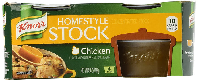 Knorr Homestyle Chicken Stock - 4.66 oz - 4 ct - 2 Pack - Buy Fast delivery